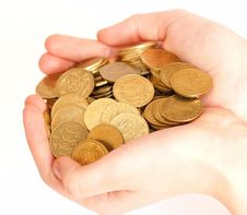 Free Hand With Coins Royalty Free Stock Photos - 5344868