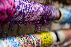 Multi- Colored Bracelets Royalty Free Stock Photo