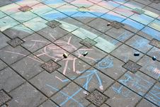 Free Chalk Drawing Stock Image - 5345231