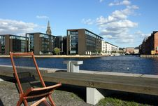 Free Chair At Copenhagen Canal Royalty Free Stock Photo - 5345515