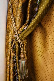 Curtain With An Ornament Stock Photography
