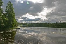 Misty Lake Stock Images