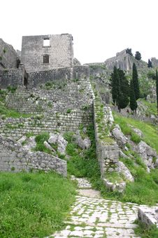 Free Military Defensive Fortress In Kotor Stock Image - 5346861