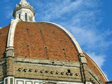 Free Florence Duomo Dome Against Blue Sky Royalty Free Stock Image - 5346976