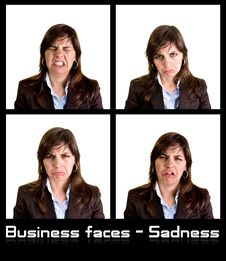 Free Collection Of 4 Businesswoman Portraits Stock Images - 5347294