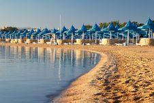 Free Beach And Parasols Stock Image - 5347541