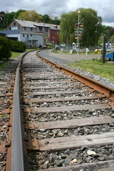 Free Train Tracks Royalty Free Stock Photography - 5348037