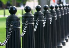 Free Chained Barrier Royalty Free Stock Image - 5348086