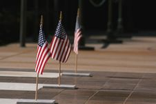 Free 3 Flags Of The United States Stock Photography - 5348092