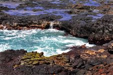 Kauai Tidal Pool Royalty Free Stock Photography