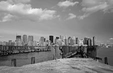Free The Lower Manhattan Skyline Royalty Free Stock Photography - 5348407