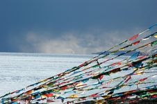 The Buddhist Flags Royalty Free Stock Photo