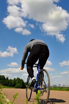 Free Bicyclist On A Background Of The Sky Stock Photo - 5349050