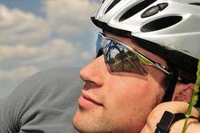 Free Portrait Of Bicyclist Stock Photo - 5349130