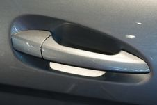 Grey Car Door Handle Royalty Free Stock Photos
