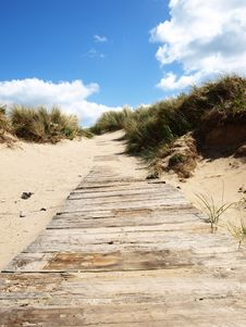 Pathway To Beach Royalty Free Stock Photography