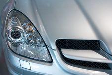 Modern Grey Metallic Car Royalty Free Stock Images
