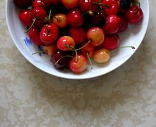 Cherry Peach And Blackberry Royalty Free Stock Images
