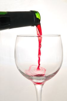 Pouring The Wine Royalty Free Stock Photo
