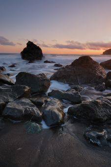 Free Muir Beach Sunset Stock Images - 5350104