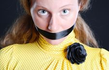 Free Black Rose And Closed Mouth Stock Images - 5350574