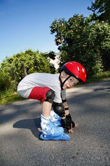 Boy Roller - Blading Royalty Free Stock Image