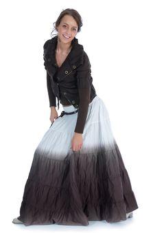 Free The Beautiful Girl In A Long Dress Stock Photo - 5350950