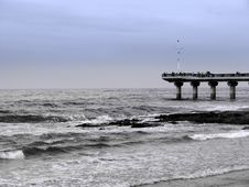 Pier In Sea Stock Photography