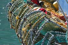 Free Fishing Baskets Royalty Free Stock Images - 5352149