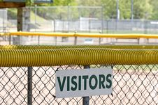 Free Visitors Dugout Royalty Free Stock Photos - 5352578
