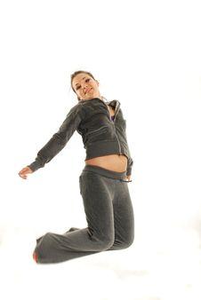 Free Jumping Woman Stock Image - 5353131
