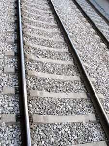 Free Close Up Of Railway Tracks Stock Images - 5353884
