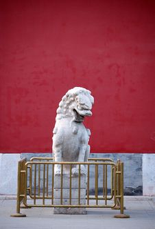 Free Chinese Stone Lion Royalty Free Stock Photos - 5353928