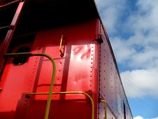 Free Corner Of An Old Red Caboose Royalty Free Stock Photo - 5354675