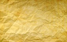 Crumpled Paper: Can Be Used As Background Royalty Free Stock Photography