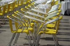 Free Yellow Chairs Stock Photo - 5354740