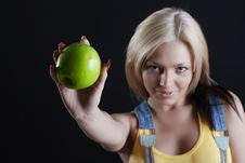 Free Girl With Apple Stock Photos - 5354773