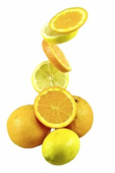 Free Orange And Lemon Stock Image - 5354931