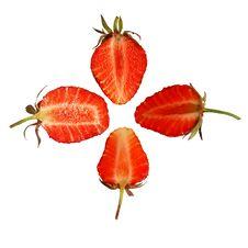 Free Strawberry Slice Royalty Free Stock Photos - 5355388