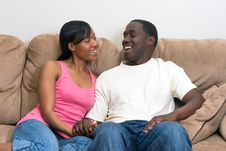 Free Attractive African American Couple Royalty Free Stock Images - 5355489