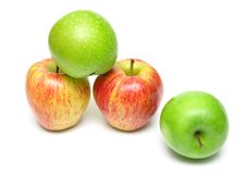 Free Ripe Juicy Apples 5 Royalty Free Stock Photo - 5355675