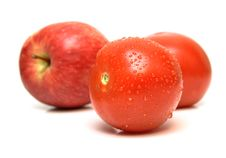Free Red Apple And Tomatoes Stock Photography - 5355802