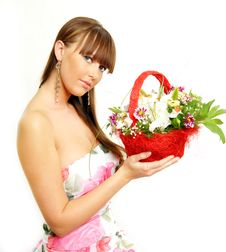 Free Fashion Portrait Of A Beautiful Girl Royalty Free Stock Photo - 5356035