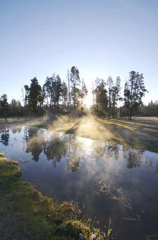 Free Misty Morning Sunrise Royalty Free Stock Image - 5356136
