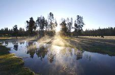 Free Misty Morning Sunrise Stock Image - 5356141