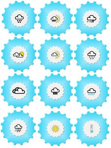 Free Weather Iconset Stock Images - 5356774