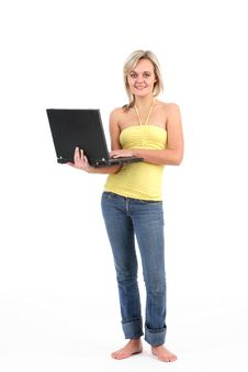 Student With Laptop Royalty Free Stock Photo