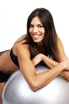 Free Beautiful Brunette Woman Exercising Stock Photography - 5356962