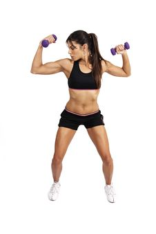Free Beautiful Brunette Woman Exercising Royalty Free Stock Image - 5356996