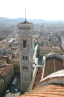 Bell-tower Of The Florence Duomo, Italy Stock Image